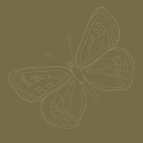 Lepidoptera Earth Large Butterfly Monochromatic 12inch