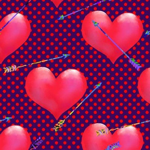 Pink Hearts and Arrows