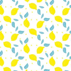 Juicy lemon yellow mint design