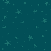 Little night owl- coordinate-teal stars