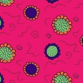 sunflower spirals (pink H2C)