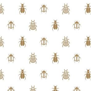 Gold line beetles pattern