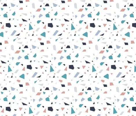 Terrazzo Blue And White Texture Wallpaper Yopixart