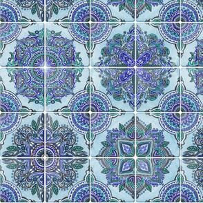 Aqua Spanish Tiles