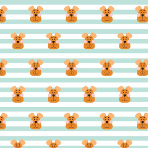 Happy puppy striped pattern