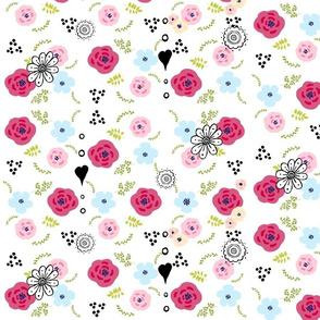 spring bouquet flower - 14 peach Medley -