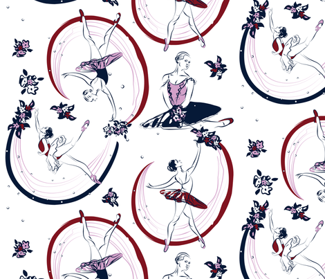 Zéphire et Flore fabric by yourfriendamy on Spoonflower - custom fabric