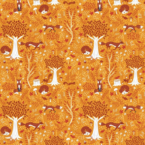 Foxes in the Orange Forest