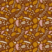 Autumn Foliage in Brown + Goldenrod