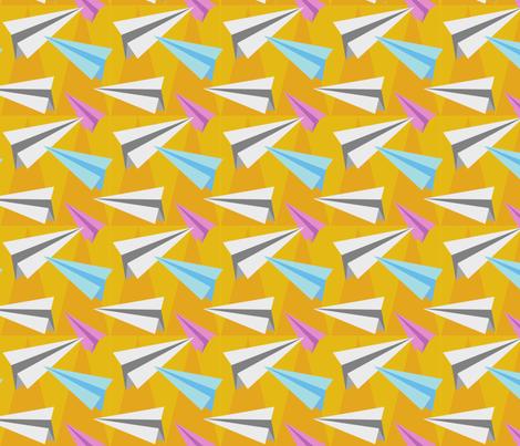 Pointy Paper Planes fabric by terrikjones on Spoonflower - custom fabric