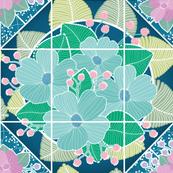 Antique Flower Tiles