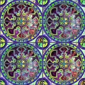 "9"" Bicolor  ASTROSPACE SPANISH TILES ULTRAVIOLET BURGUNDY BROWN"