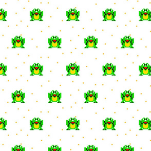 Happy frog pixel art