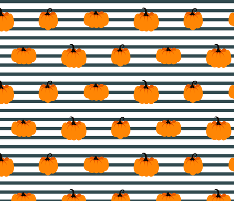 Orange pumpkins fabric by yopixart on Spoonflower - custom fabric