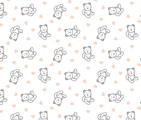 Plush bear fabric by yopixart on Spoonflower - custom fabric