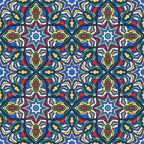 Mediterranean abstract pattern.