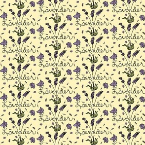 Lavender With Pale Yellow Background