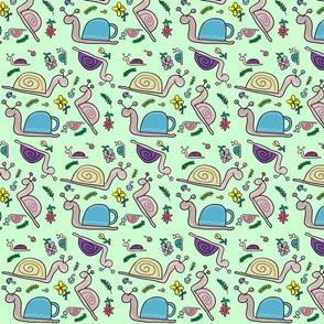 Snails green