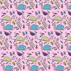 snails pink