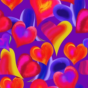 Bright and Bold Valentine Hearts