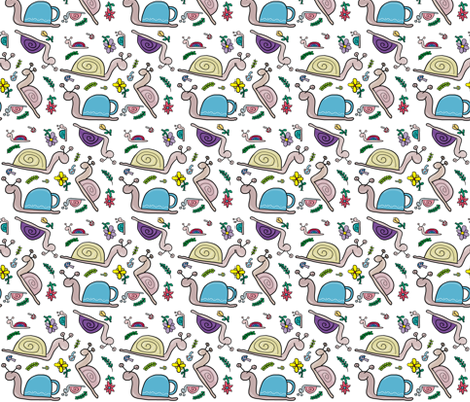 snails1 fabric by cartoonist on Spoonflower - custom fabric