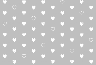 White Hearts on Gray – Love Heart Valentines Day