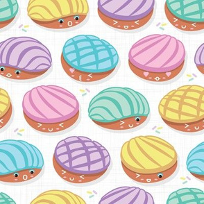 Kawaii Mexican conchas // white background