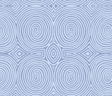 concentric-blue fabric by wren_leyland on Spoonflower - custom fabric