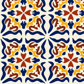 SpanishTiles:  Los cuadrados son círculos- multi color