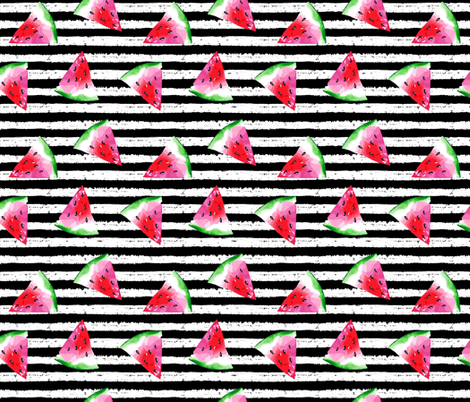 Summer Watermelon fabric by hipkiddesigns on Spoonflower - custom fabric