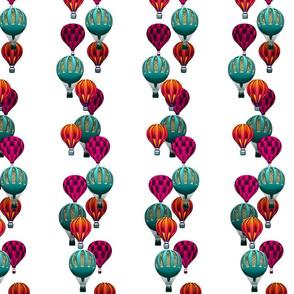 Hot Air Balloon Stripes on White