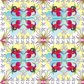Strawberrybeta, Spanish Tile, Art, Spoonflower Challenge