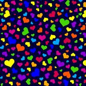 Elephant Love-coordinate-rainbow hearts-navy bg