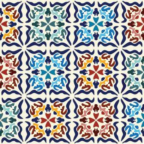 Spanish Tiles: Los cuadrados son círculos-Multi