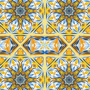 Fancy Fishy Tail Star Border Tiles