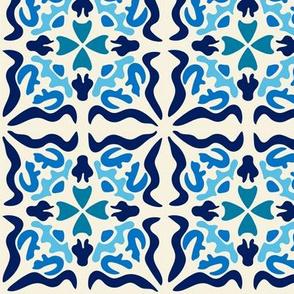 Spanish Tiles-  Los cuadrados son círculos- Azul