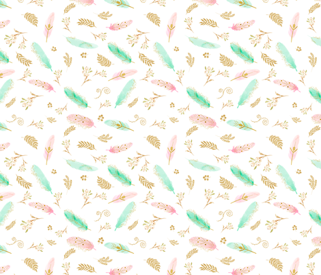 """8"""" Dreamy Feathers fabric by shopcabin on Spoonflower - custom fabric"""