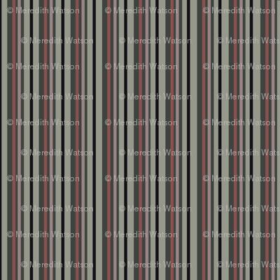 Dark Floral Stripe