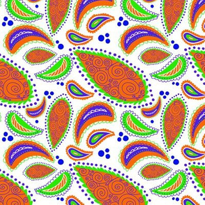 Orange Paisley