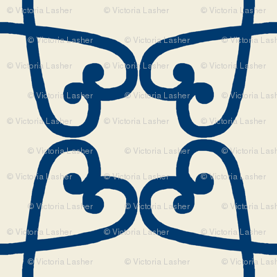 Spanish tile loop blue on clay
