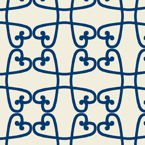 Spanish tile loop blue on clay