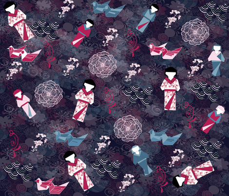 origamichallenge2 fabric by teal_feather on Spoonflower - custom fabric