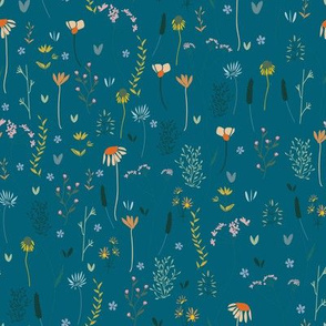 Wildflowers in the Air Teal