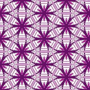 Spherical stars violet