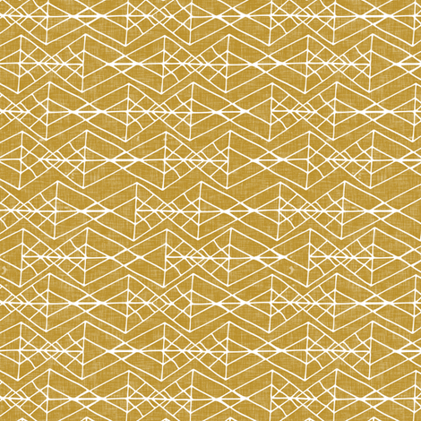 Django Geo in Gold (small) fabric by nouveau_bohemian on Spoonflower - custom fabric