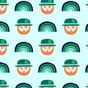 rainbows and leprechauns - St Patricks day (blue)