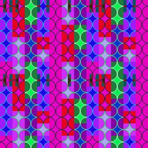 purple art deco circles