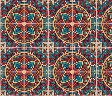 Spanish Mandala Tiles fabric by hollybender on Spoonflower - custom fabric