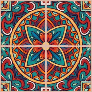 Spanish Mandala Tiles