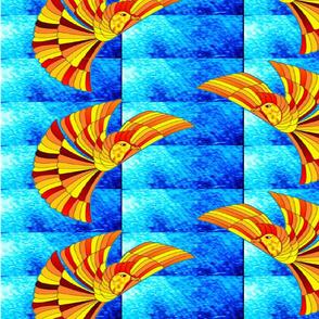 Phoenix Firebird on blue (Gre